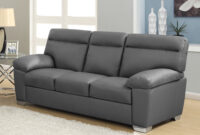 Sofa Alto S5d8 Alto Italian Inspired High Back Leather sofa Collection In Dark Grey