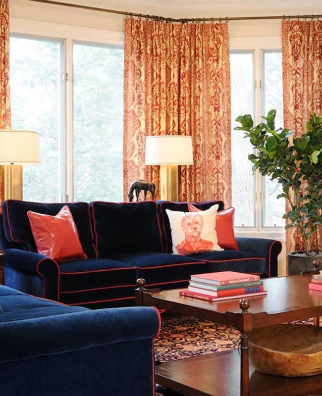 Sofa Azul Marino Drdp sofà S Ribeteados O De Cà Mo Darle Un toque De Color A Tu Salà N