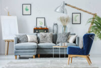 Sofa Azul Marino Ftd8 Diseà O Interior Moderno Con Un Elegante sofà Gris Sillà N Azul