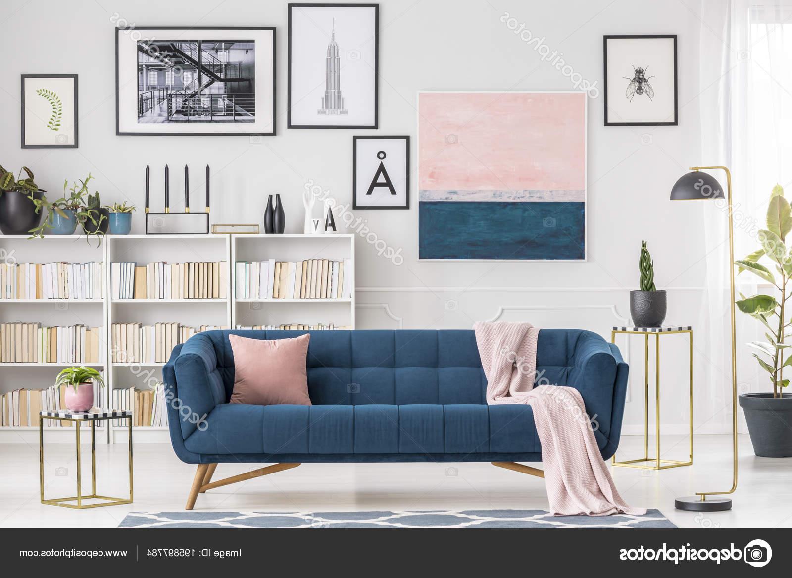 Sofa Azul Marino Gdd0 Rosa Manta sofà Azul Marino Interior Moderno Salà N Con Galerà A