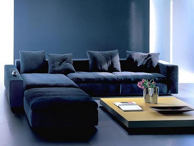 Sofa Azul Marino Ipdd Decorar La Sala Utilizando Un sofà Azul