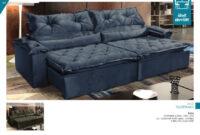 Sofa Azul Marino Q5df sofà Campello 4 Lugares Retrà Til Reclinà Vel Azul Marino R