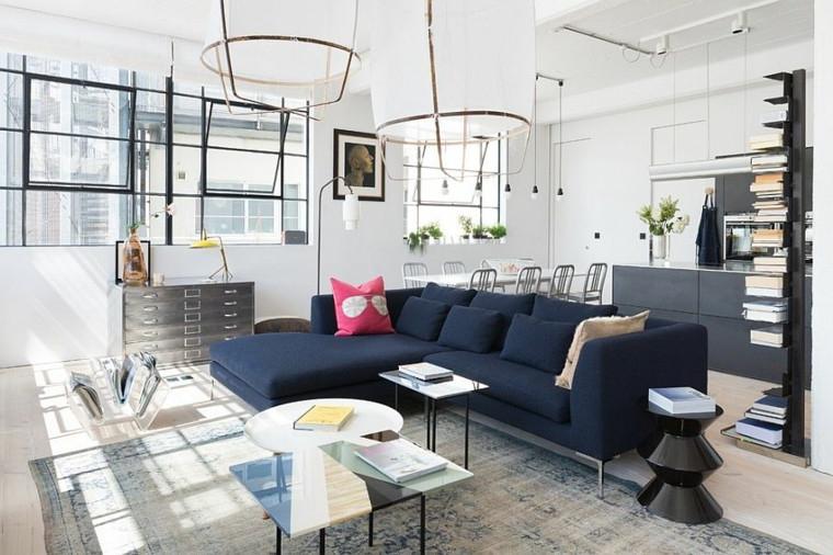 Sofa Azul Marino T8dj sof Azul Marino Diseno De Interiores sofa Gran