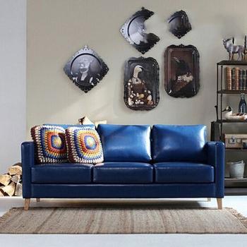 Sofa Azul Marino X8d1 Italia Hermosa Suave Muebles Azul Marino sofà De Cuero sofÃ