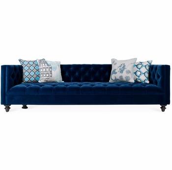 Sofa Azul Marino Zwd9 Lavish Botà N Tuft 96 sofà Azul Marino De Sala Muebles De Dormitorio