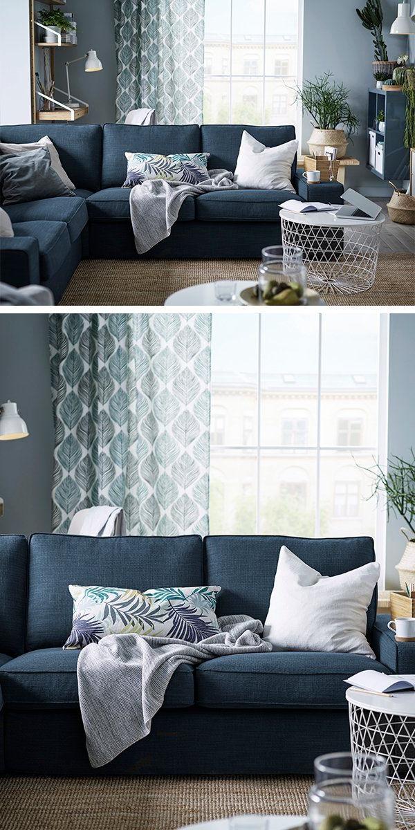 Sofa Azul Marino Zwdg Kivik Sectional 4 Seat Corner Hillared Dark Blue Home