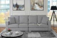 Sofa Bajo Irdz Detalles Acerca De Extra Grande Sala De Estar sofà De Tela De Lino 4 sofà asiento Perfil Bajo Gris Claro Mostrar Tà Tulo original