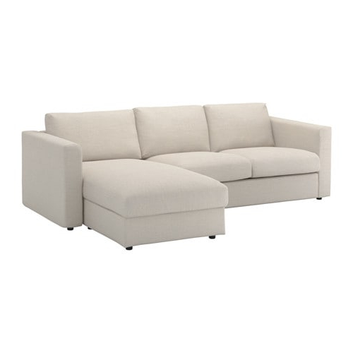 Sofa Beige Mndw Vimle sofa with Chaise Gunnared Beige Ikea
