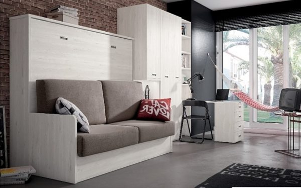 Sofa Cama Abatible Vertical Budm Cama Abatible Horizontal Con sofa Smp Muebles De Tena