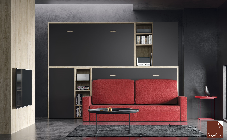Sofa Cama Abatible Vertical Etdg Cama Abatible Horizontal Con sofa Tmb Muebles Mi Hogar