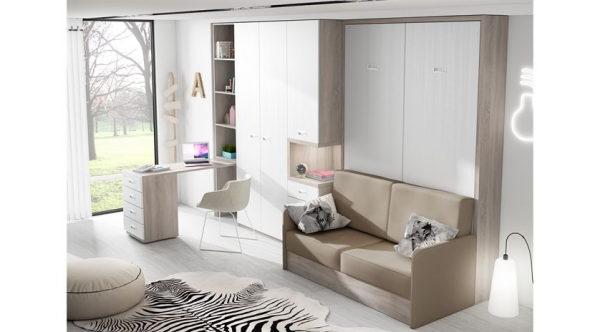 Sofa Cama Abatible Vertical Jxdu Cama Abatible Vertical Con sofa Muebles De Tena