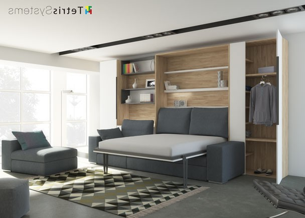 Sofa Cama Abatible Vertical O2d5 Salà N Con Cama Abatible Vertical Y Chaiselongue Elmenut
