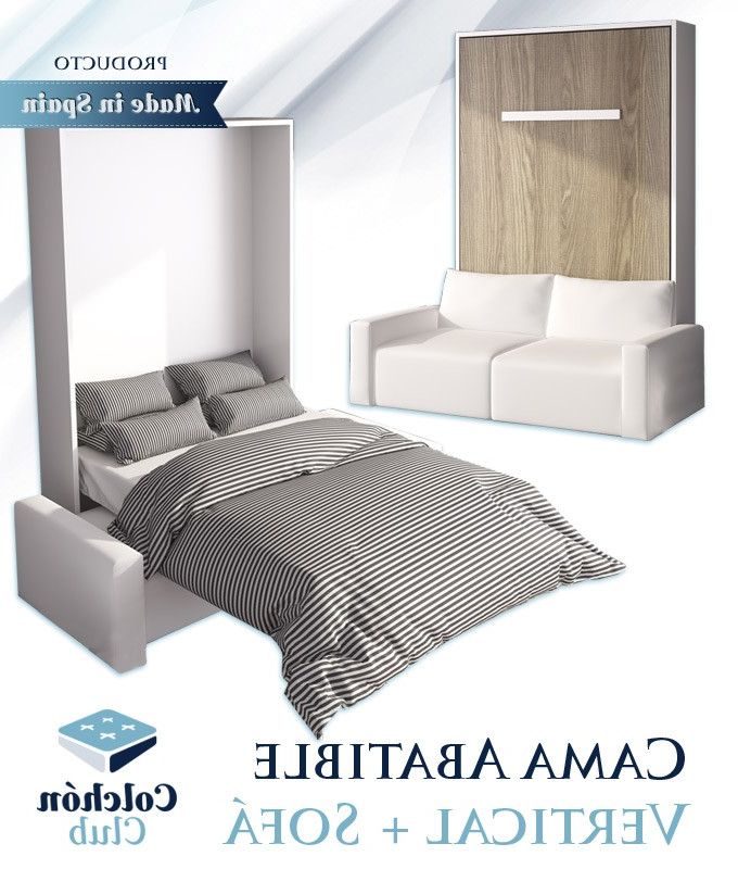 Sofa Cama Abatible Vertical Zwdg Cama Abatible Vertical Con sofà Disponible En Diferentes Medidas Y