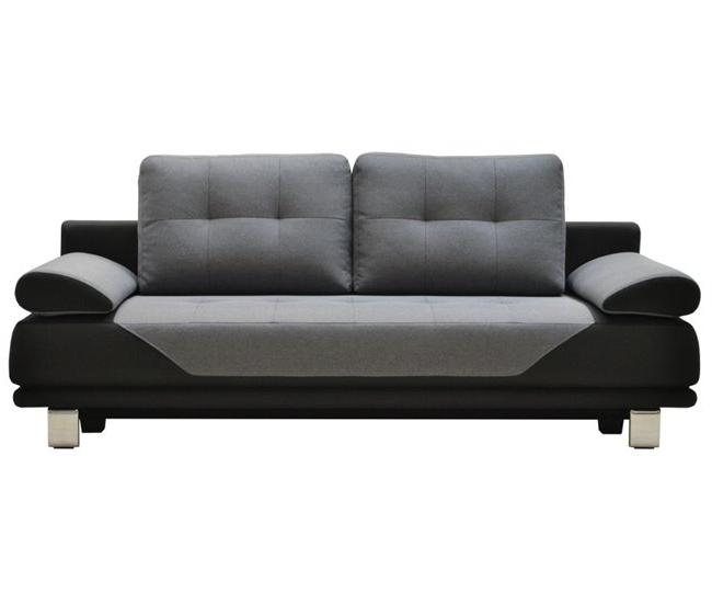 Sofa Cama Bueno Drdp sofà Cama 3 Plazas De Tela Durban Negro Y Gris Conforama