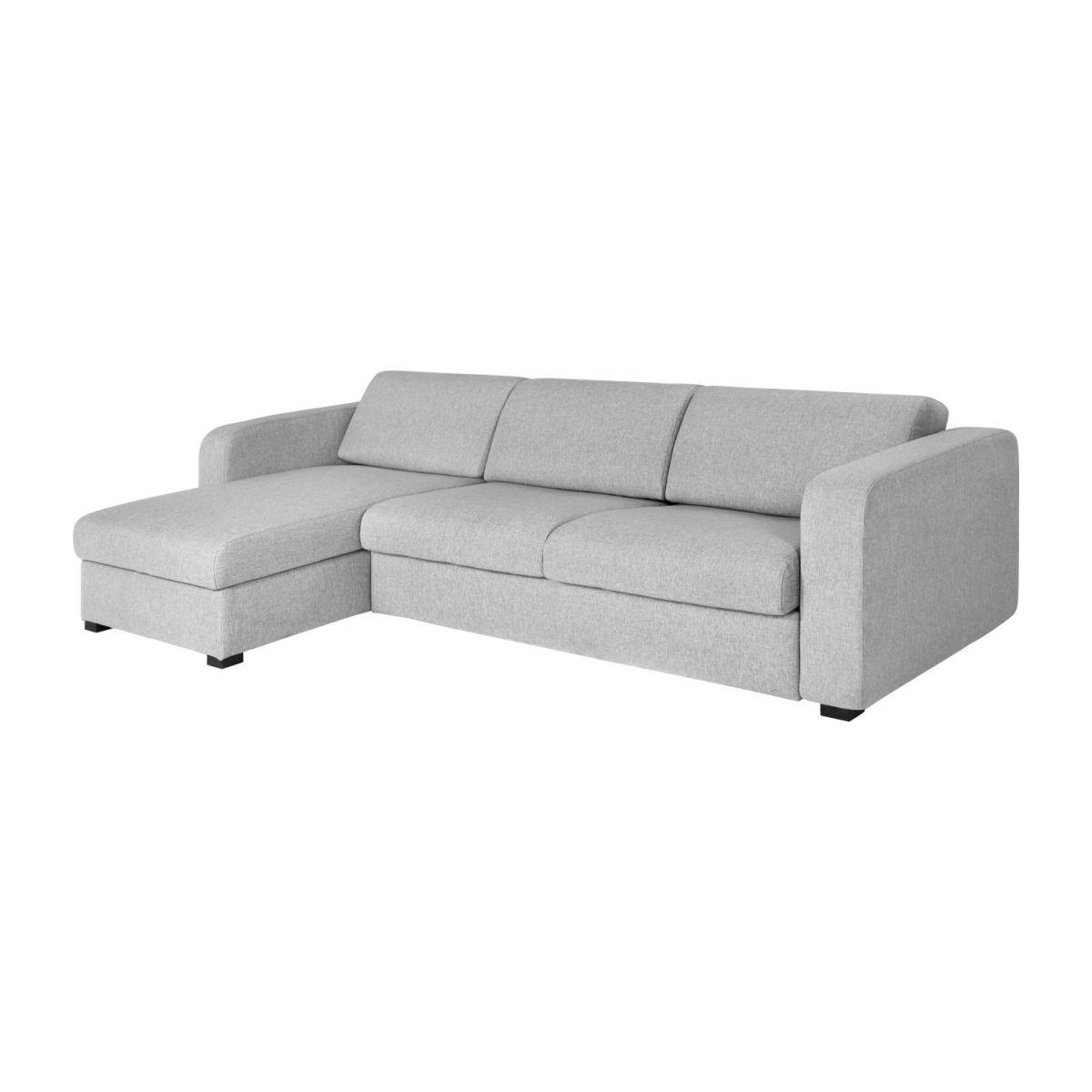 Sofa Cama Con Almacenaje 9fdy sofà Cama Esquinero Reversible 3 Plazas De Tela Con Almacenaje Gris Claro