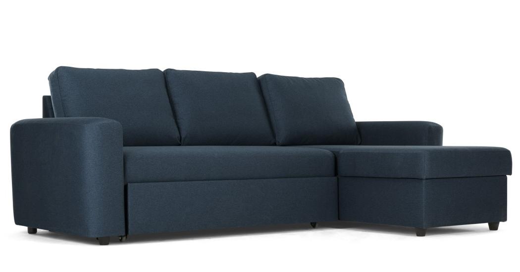 Sofa Cama Con Almacenaje Dwdk sofà Cama Esquinero Con Almacenaje Aidian Azul Real