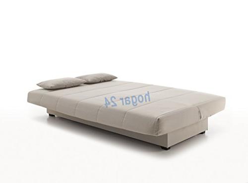 Sofa Cama Con Almacenaje Mndw sofa Cama Clic Clac Con Arcà N De Almacenaje Gris