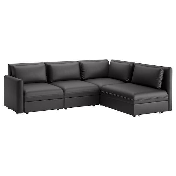 Sofa Cama Con Almacenaje X8d1 sofà Modular Esquina 3 sofà Cama Vallentuna Y Almacenaje Murum Negro