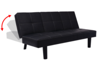 Sofa Cama Desplegable O2d5 sofà Cama Con Mesa Desplegable De Cuero Artificial De Color Negro