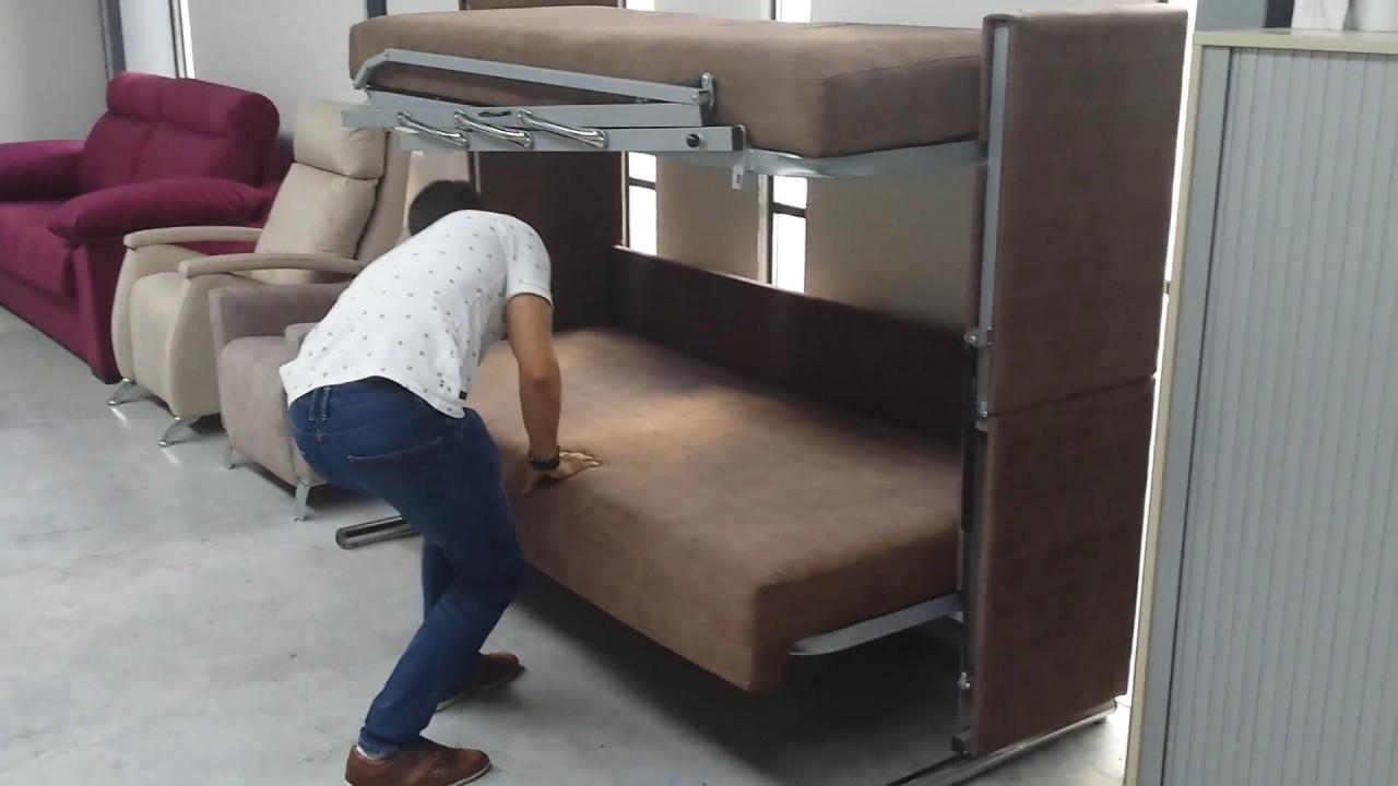 Sofa Cama Litera Q0d4 sofà Cama Con Litera Oculta Increà Ble Youtube