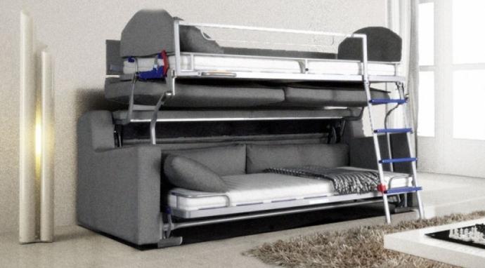 Sofa Cama Litera Thdr Un Mueble Litera Y sofà A La Vez Es Posible sofas Cama Cruces