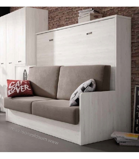 Sofa Cama Madrid Fmdf Cama Abatible Con sofa Modelo Madrid Horizontal Para Colchones 90cm