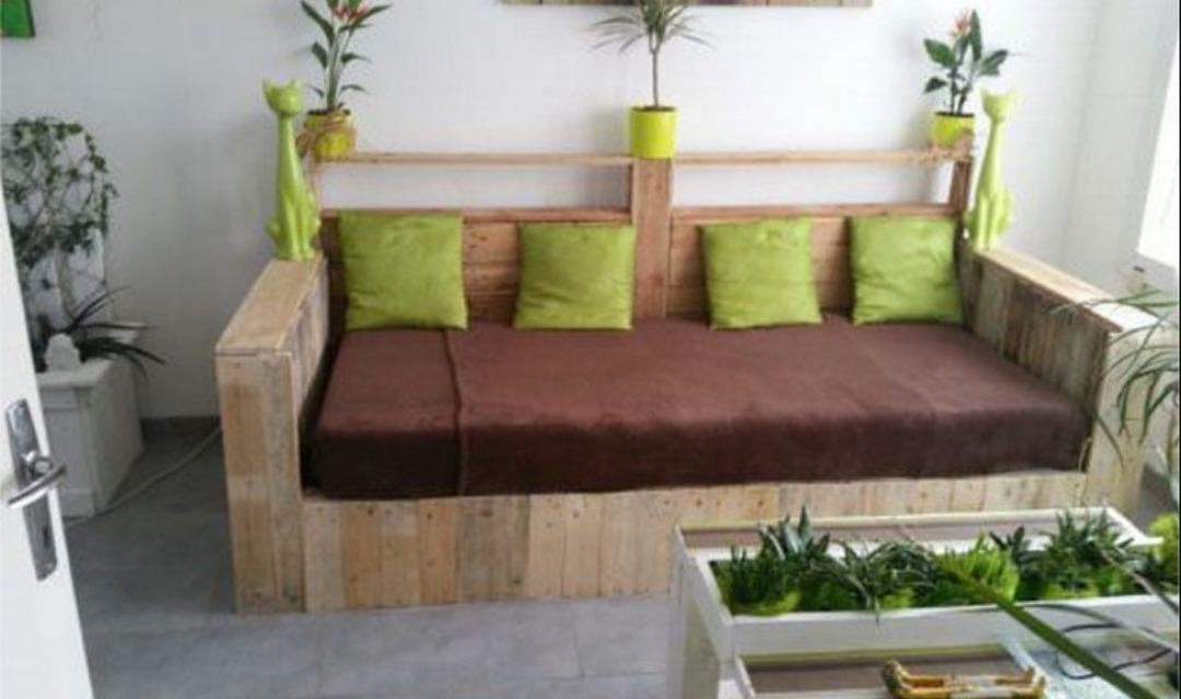 Sofa Cama Palets Jxdu sofà Cama De Madera Palet 8 900 00 En Mercado Libre