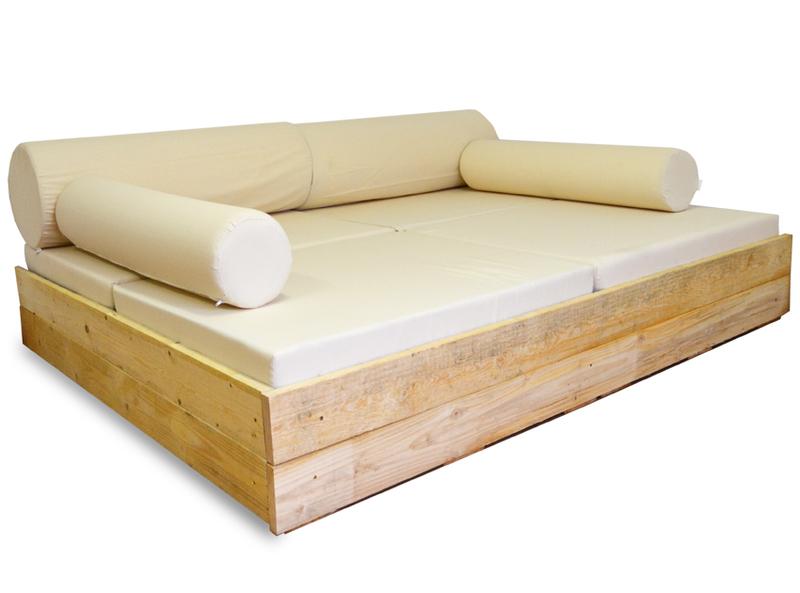 Sofa Cama Palets U3dh Cama Balinesa Con Palets Y Cojines 166 X 206 Cm