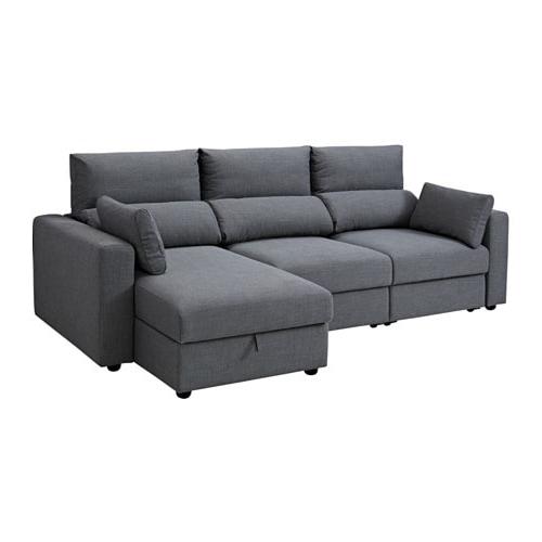 Sofa Chaise Long Wddj Eskilstuna 3 Seat sofa with Chaise Longue nordvalla Dark Grey Ikea