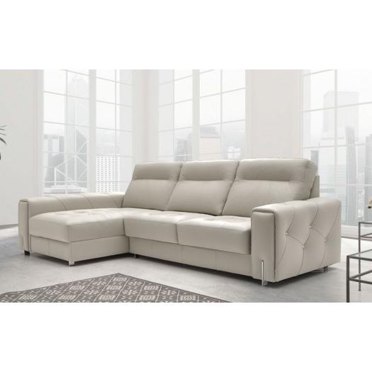 Sofa Chaise Longue Piel O2d5 Chaise Longue De Piel Con Capitone Adriana MÃ Xima Elegancia Y Confort