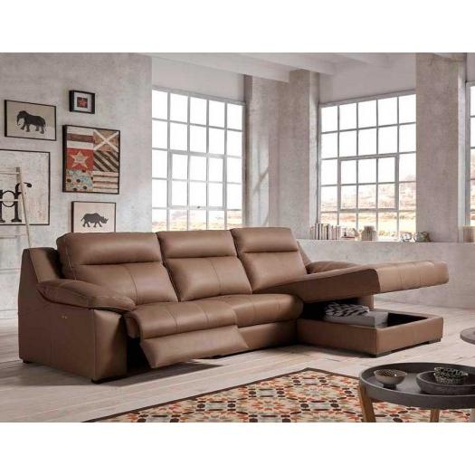 Sofa Chaise Longue Piel O2d5 Chaise Longue Relax Verona Gran Diseà O Piel O Tela Y Envà O Gratis