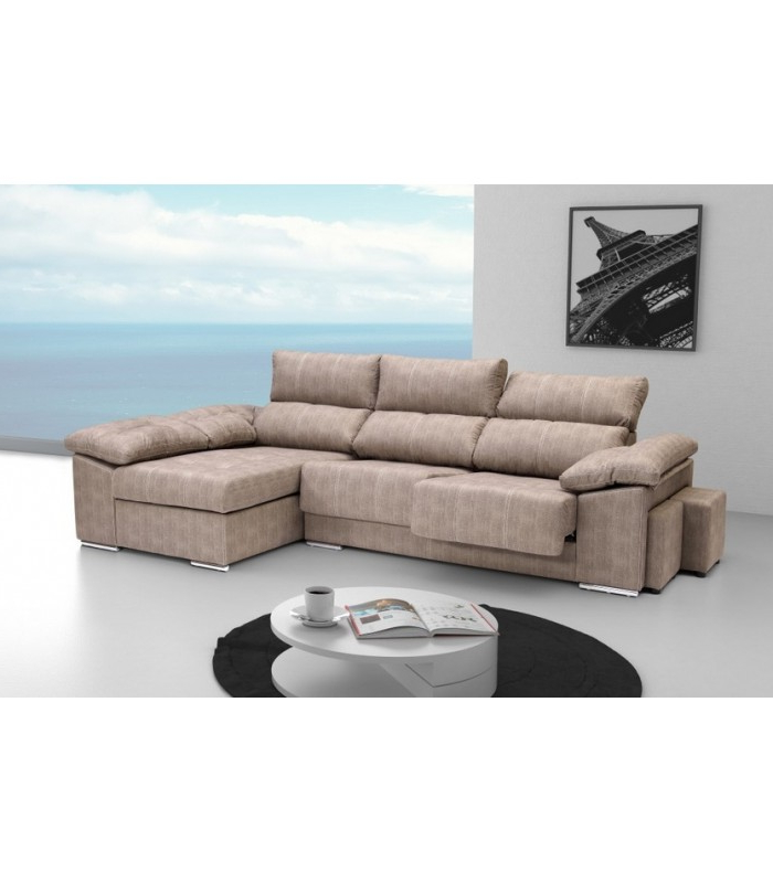 Sofa Chaiselongue 0gdr sofa Chaiselongue Cayenne Gris Plata Beige Mueblesparamicasa