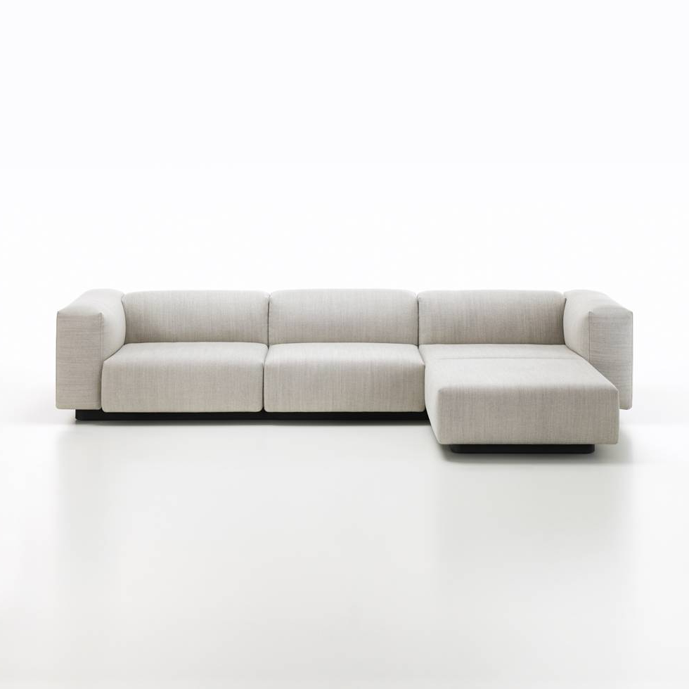 Sofa Chaiselongue Dddy Vitra Vitra soft Modular sofa Chaise Longue Workbrands