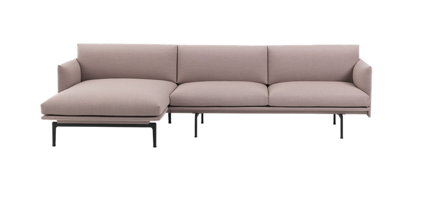Sofa Chaiselongue Dwdk Muuto Outline sofa Chaise Longue Right Von Goodform