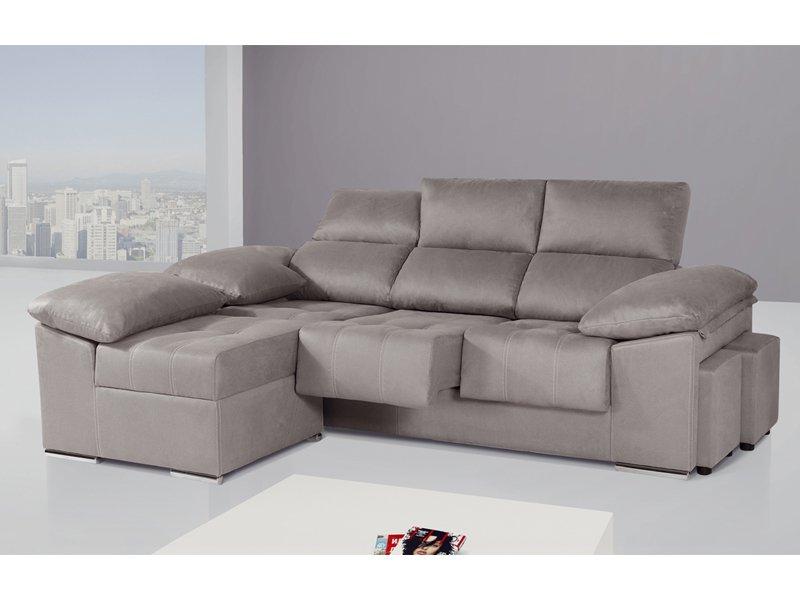 Sofa Chaiselongue Etdg sofà De 3 Plazas Con Mà Dulo Chaise Longue Partido Y Puff Separado