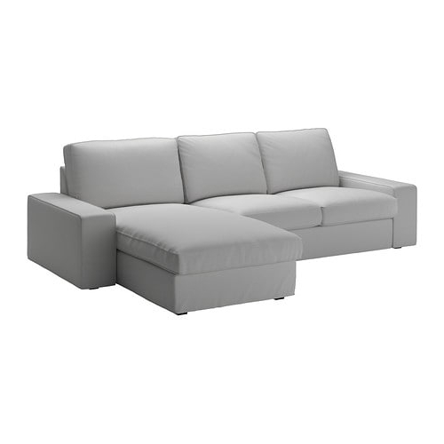 Sofa Chaiselongue Kvdd Kivik 3 Seat sofa with Chaise Longue orrsta Light Grey Ikea