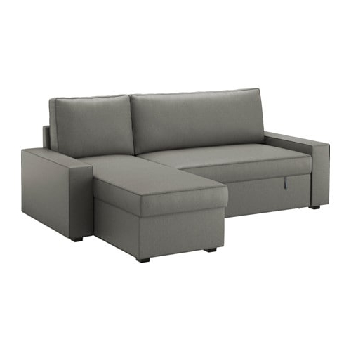 Sofa Chaiselongue Kvdd Vilasund sofa Bed with Chaise Longue Borred Grey Green Ikea