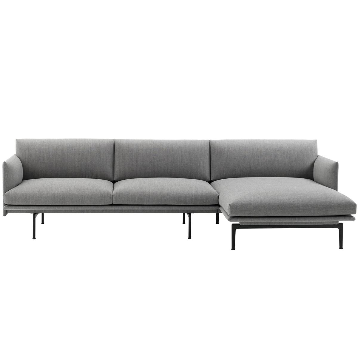 Sofa Chaiselongue O2d5 Outline Chaise Longue sofa by Muuto Connox