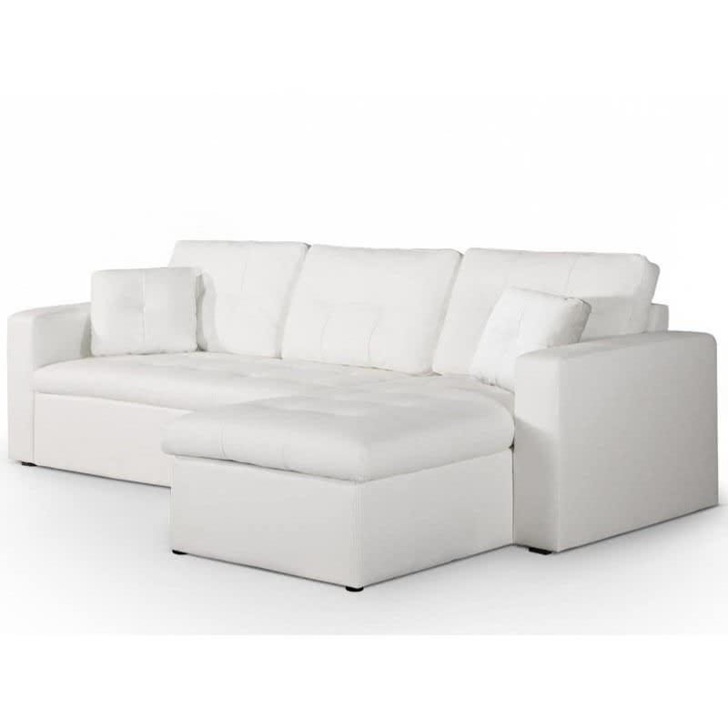Sofa Chaiselongue X8d1 Chaise Longue sofà Cama toledo Piel Synderme Blanco Menzzo