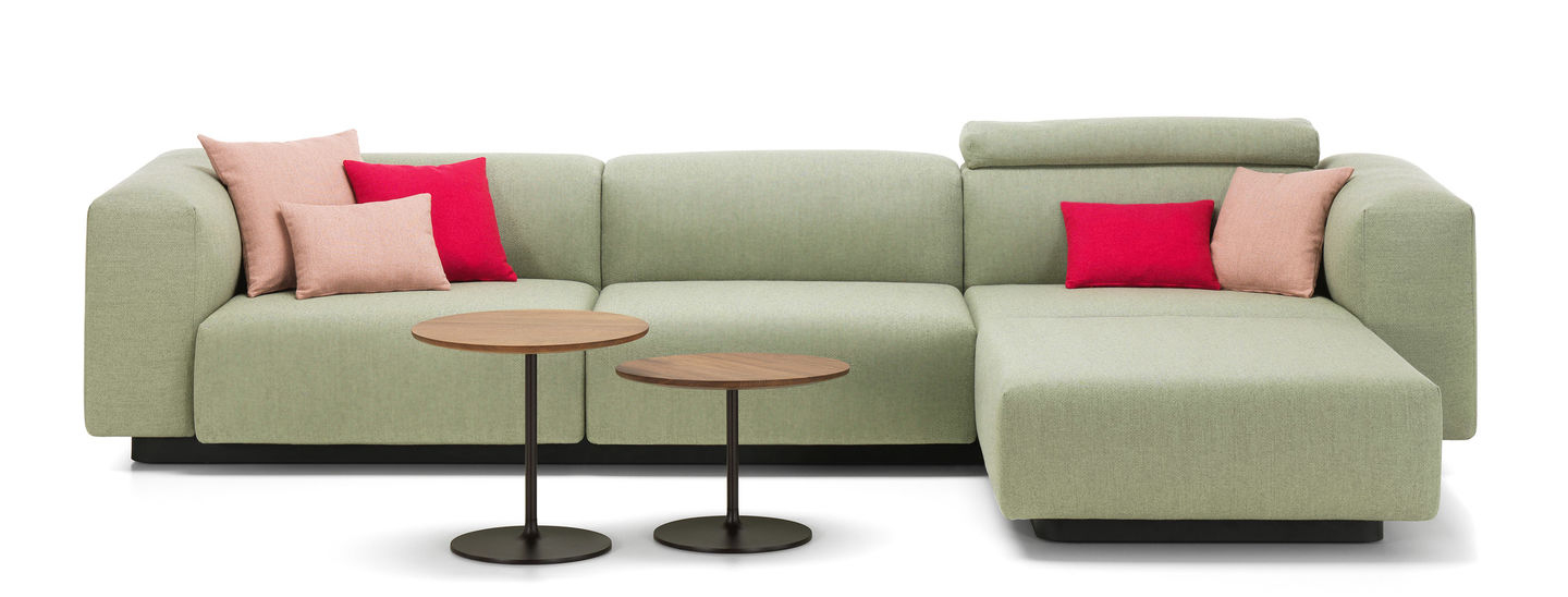 Sofa Chaiselongue Y7du Vitra soft Modular sofa Three Seater Chaise Longue