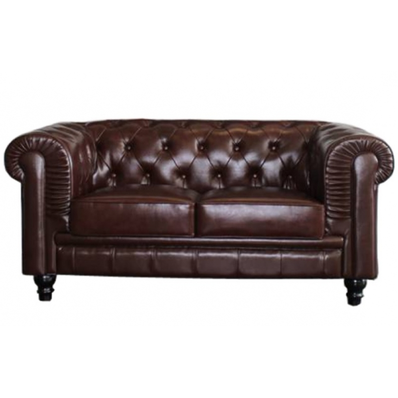 Sofa Chester Piel Tqd3 sofa Chester Dos Plazas Piel Vintahome