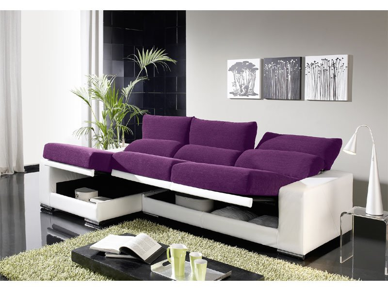 Sofa Con Arcon 87dx sofà Chaise Longue Abatible Chaise Longue Reclinable Con Arcà N