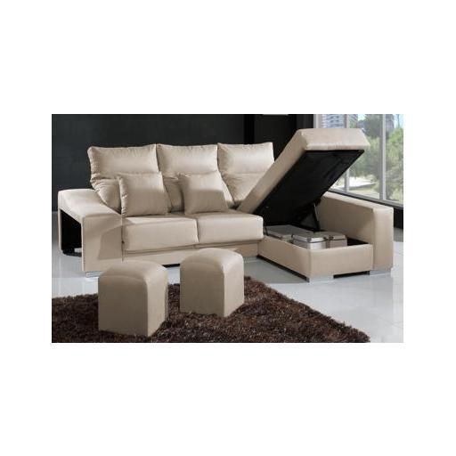 Sofa Con Arcon T8dj sofà 2 Plazas Chaise Longue Con Arcà N Y 2 Pouffs