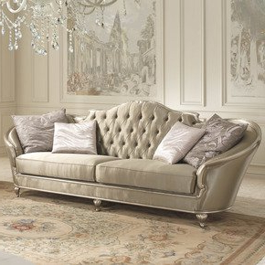 Sofa Confort Drdp Eden sofa Green Silver Wood Contemporary 2 Seater sofas