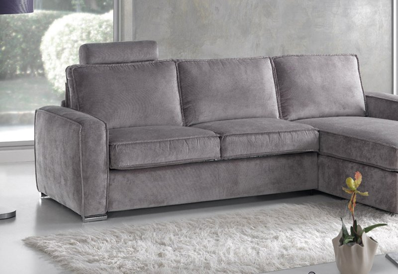 Sofa Confort O2d5 Glamour 3 Seat sofa Grey Textile Contemporary 3 Plus Seater