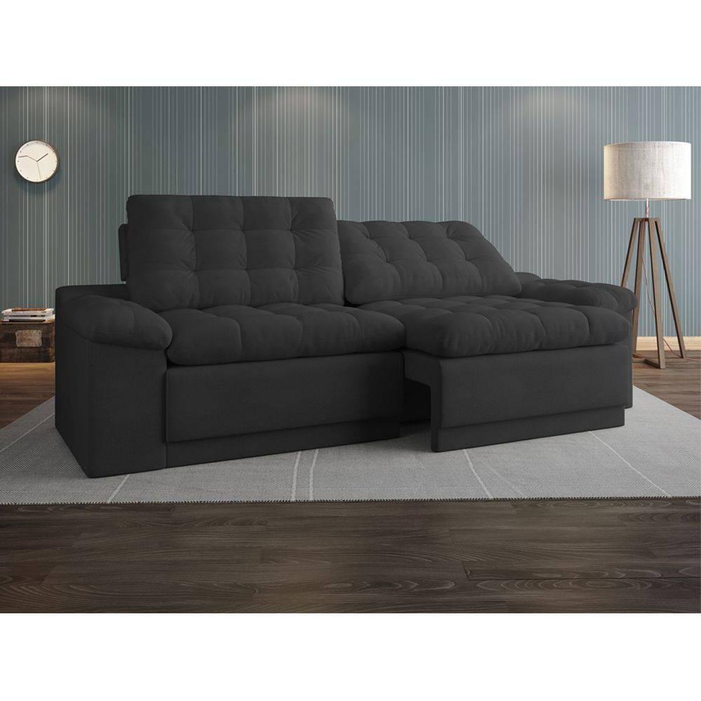 Sofa Confort Zwd9 sofà 4 Lugares Net Confort assento Retrà Til E Reclinà Vel Cinza