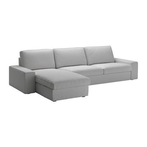Sofa Cuatro Plazas Zwdg Kivik sofà 4 Plazas Chaiselongue orrsta Gris Claro Ikea