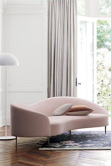 Sofa Curvo 9ddf Curvo Pink Velvet sofa Reviews Goop In 2019 Velvet