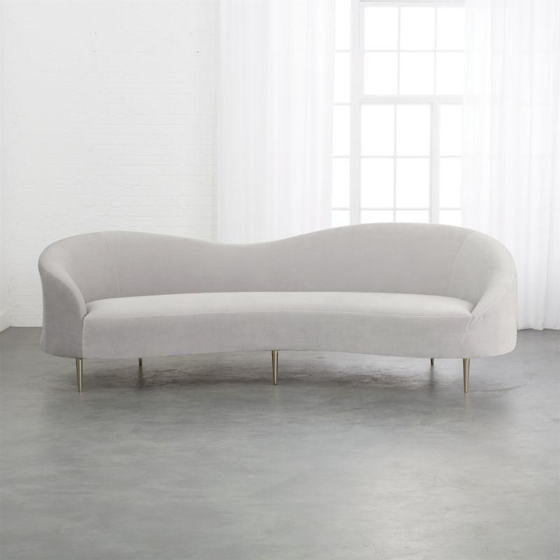 Sofa Curvo Fmdf Curvo Light Grey Velvet sofa Reviews Club Dr In 2019