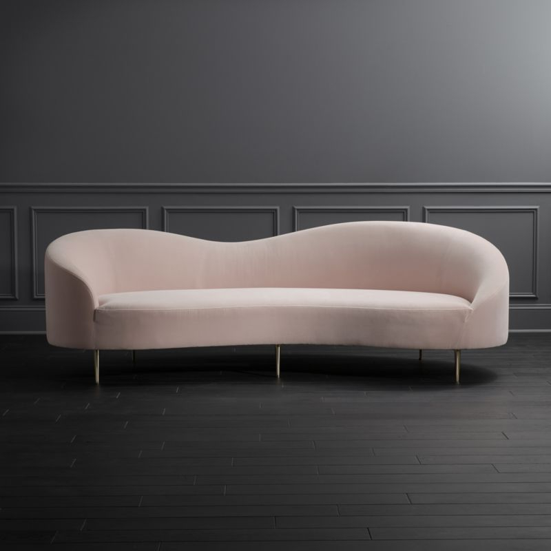 Sofa Curvo O2d5 Curvo Pink Velvet sofa Reviews Furnishings In 2019